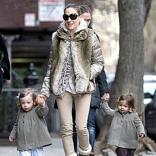 Pictures of Sarah Jessica Parker Talking a Walk on Her 46 Birthday With Twins Marion and Tabitha Broderick