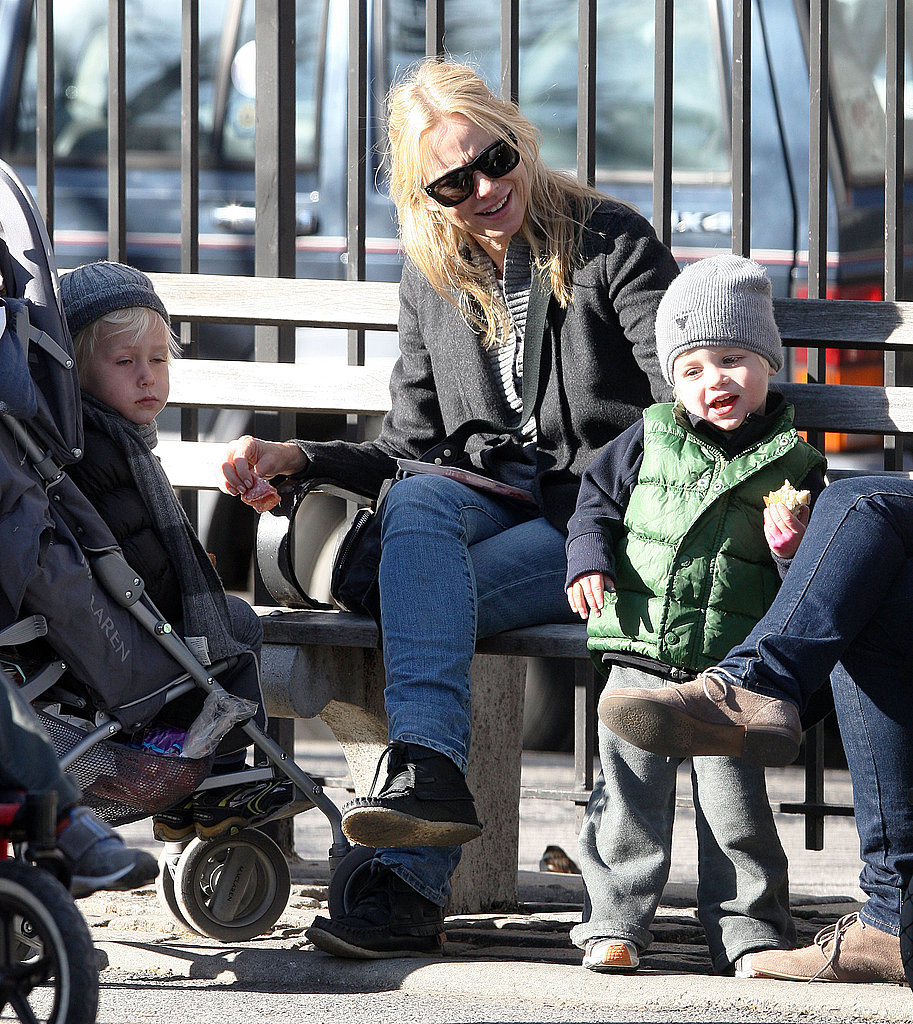 Naomi Goes Gaga During a Day in the Park With Sasha and Samuel