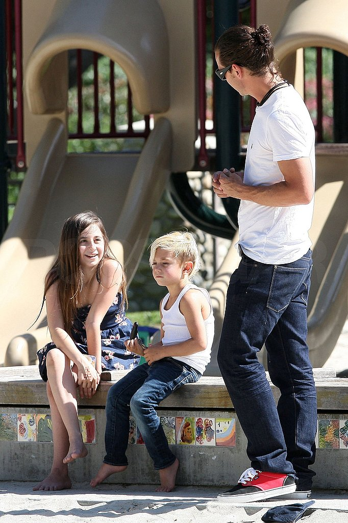 See Gavin and Kingston's Too Cute Park Day With Phone Numbers, Swings, and Ice Cream