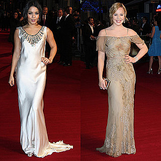Photos of Vanessa Hudgens and Abbie Cornish Wearing Alberta Ferretti at UK Sucker Punch Premiere