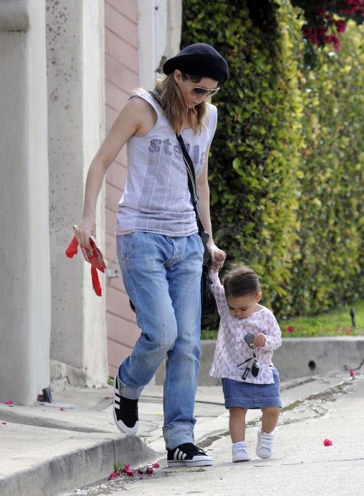 Ellen Pompeo Gives Stella a Hand With Her Walking Skills