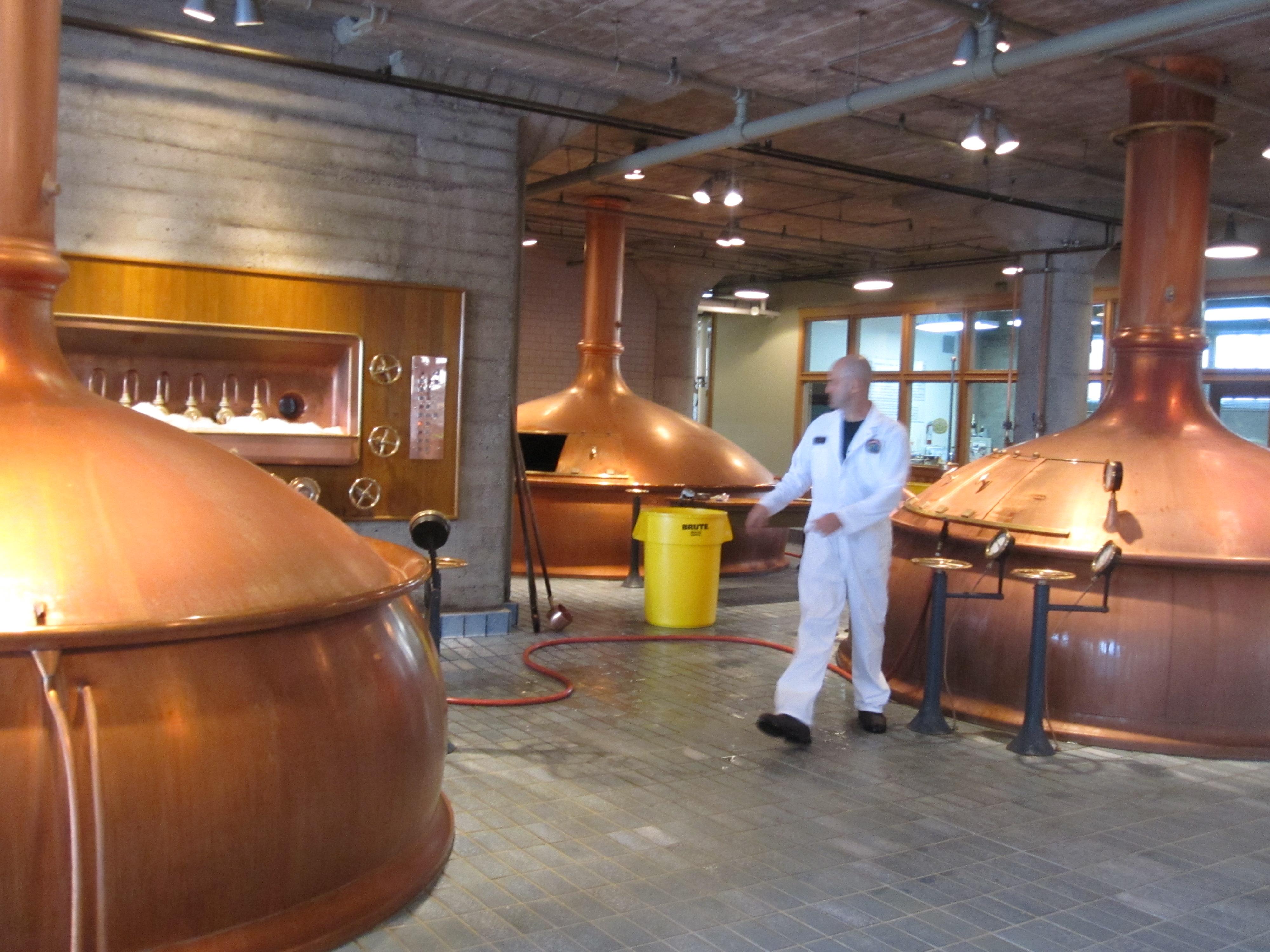A beerman hard at work.