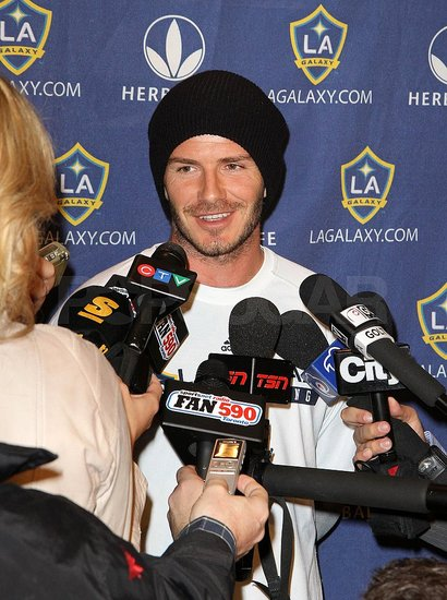 David Beckham Flashes His Winning Grin North of the Border