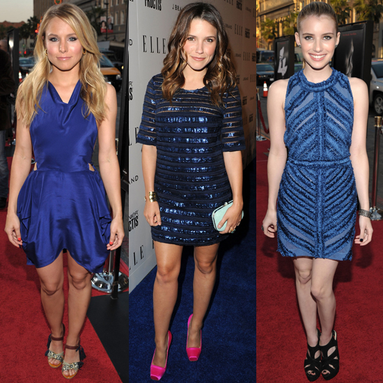 Celebrities Wear Blue Dresses on the Red Carpet