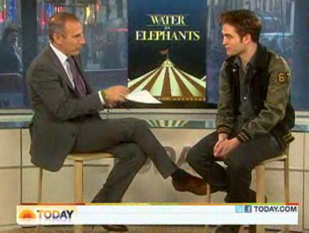 Robert Pattinson Video on the Today Show