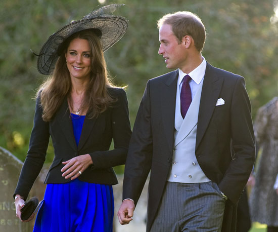 In October 2010, William and Kate made a picture-perfect pair for the wedding of their friends Harry Meade and Rosie Bradford near Cheltenham, England.
