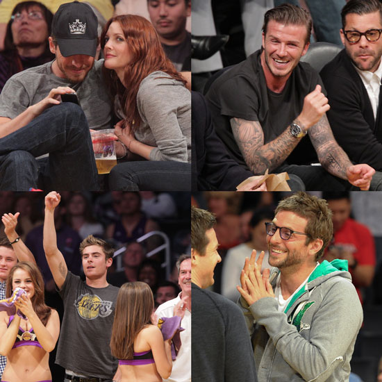 Drew Barrymore Kissing Will Kopelman Pictures at a Lakers Game