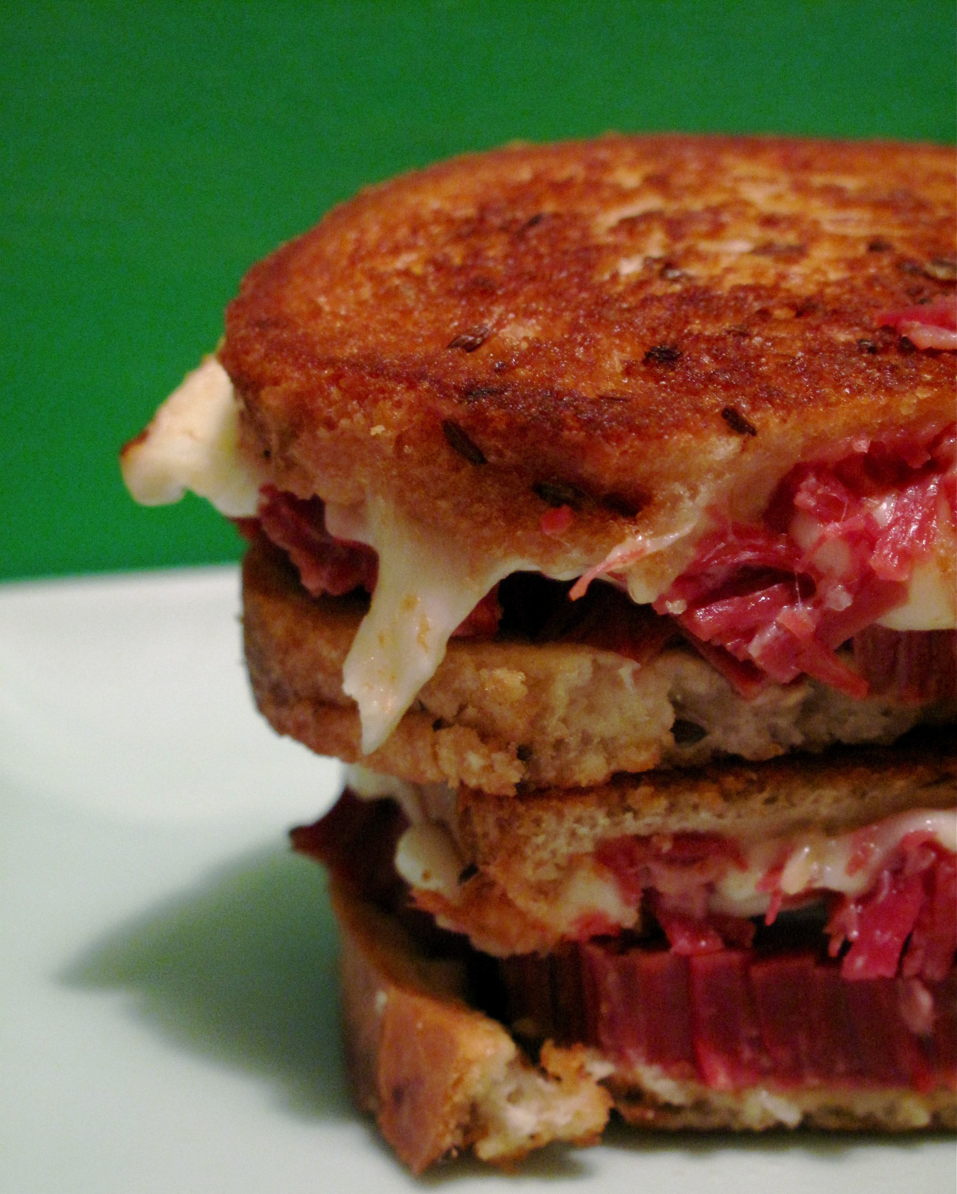 Corned Beef and Fontina Grilled Cheese