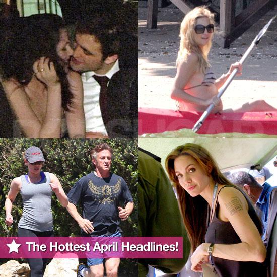 Angelina Jolie, Robert Pattinson, Pregnant Kate Hudson in a Bikini, and More in PopSugar's April Roundup!