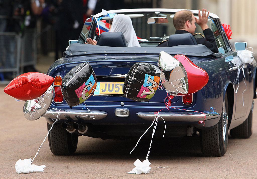 Prince William and Kate Drive Off in an Aston Martin!