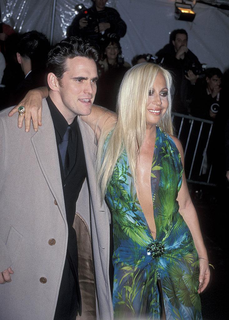 Matt Dillon, Donatella Versace — 1999