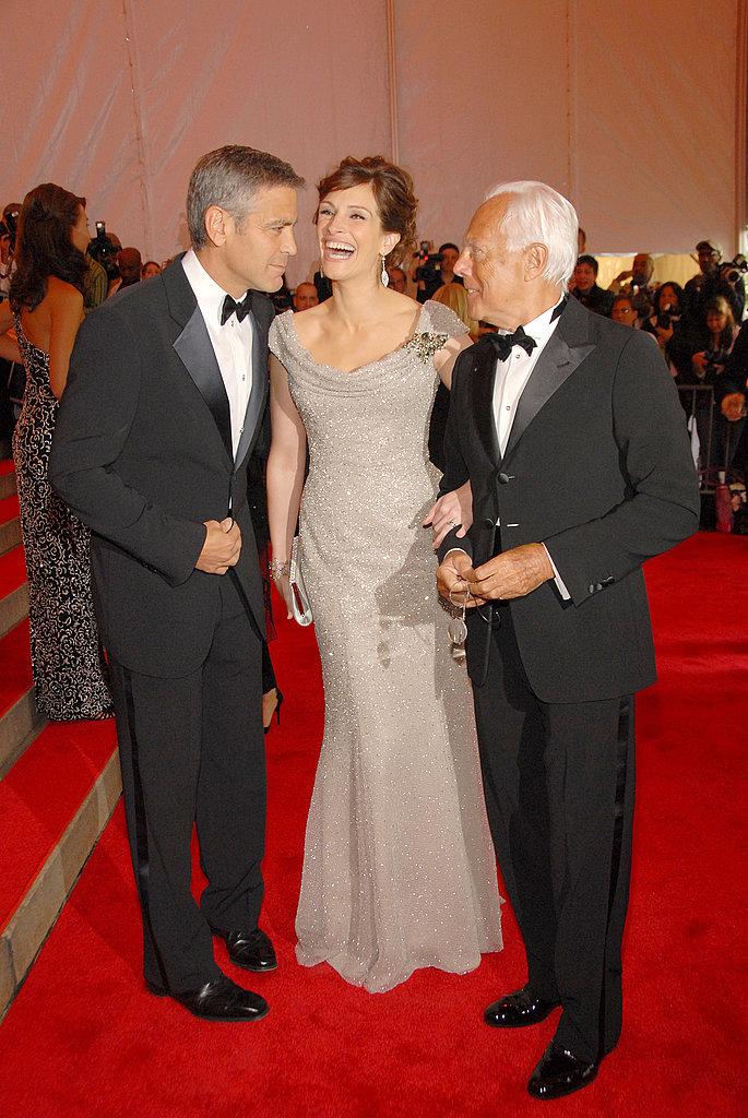 George Clooney, Julia Roberts, Giorgio Armani — 2008