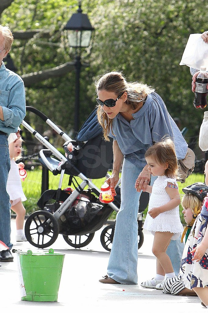 Sarah Jessica Parker Enjoys Fun and Games on Mother's Day Weekend