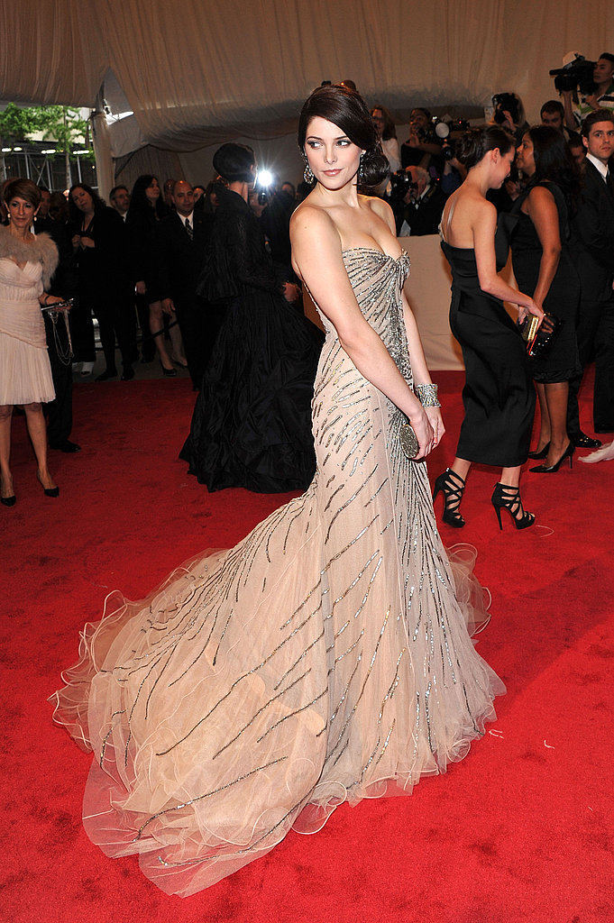 Ashley Greene Makes a Stunning Splash in One-of-a-Kind Donna Karan at Met Gala