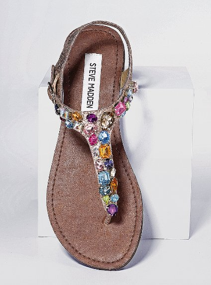 These chic sandals are ideal for Summer. Steve Madden Jewel-Embellished Sandal ($90)