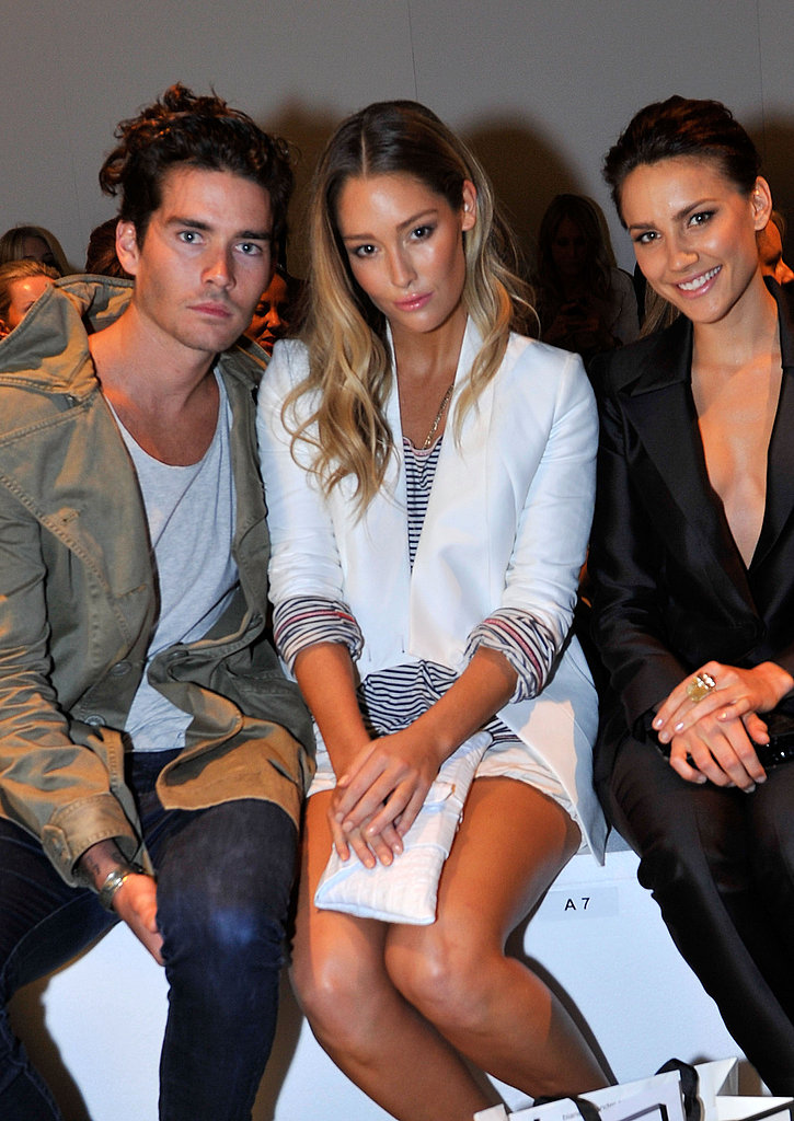 Nathan Joliffe, Erin McNaught and Rachael Finch at Bianca Spender