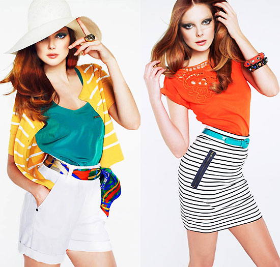 Pictures of Eniko Mihalik For Mango Colour and Stripes Lookbook