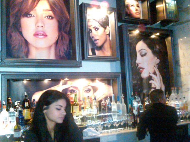 The Revlon ladies shine take over the wall at the Shape magazine 'Shape Your Life' social event Twitter User: Revlon