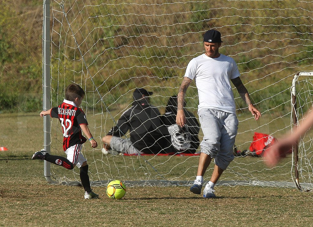 David Beckham Brings His Talents to Cruz's Soccer Practice