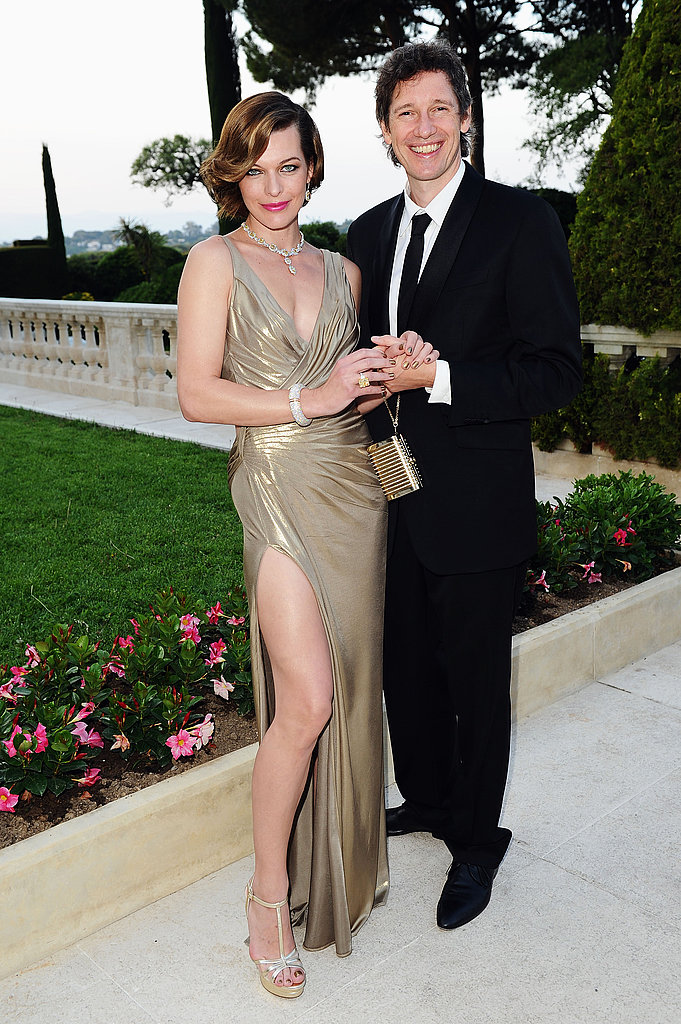 Milla Jovovich in Atelier Versace and Paul Anderson