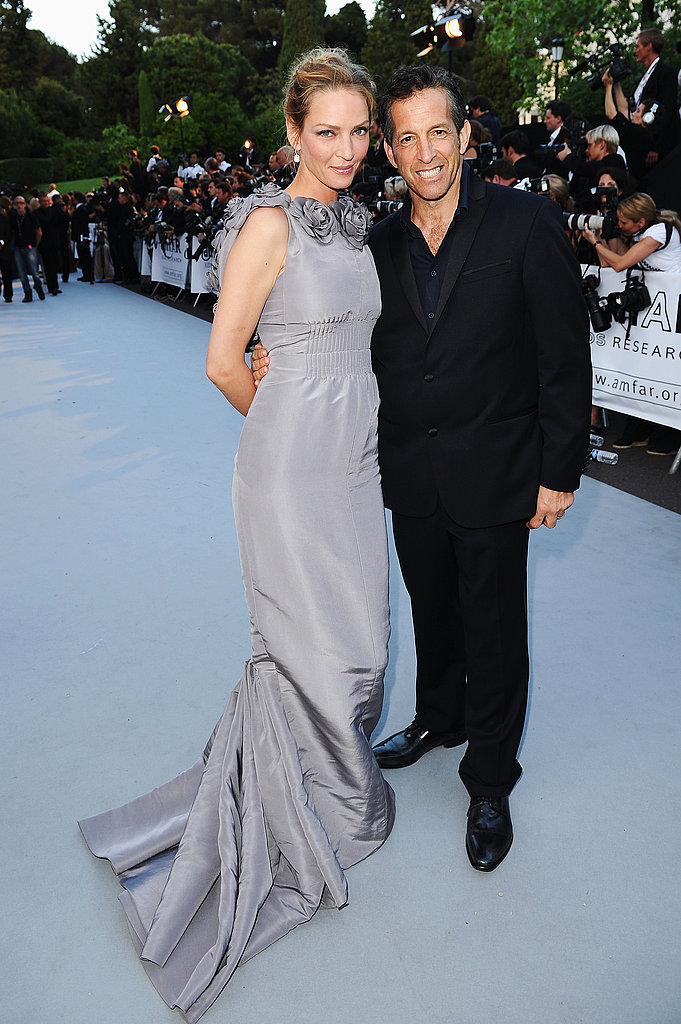 Uma Thurman in Chanel couture and Kenneth Cole