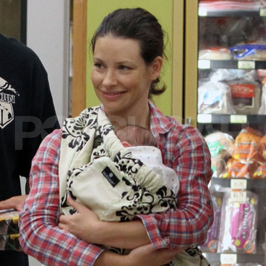 New Mom Evangeline Lilly Pictures With Infant Son and Norman Kali