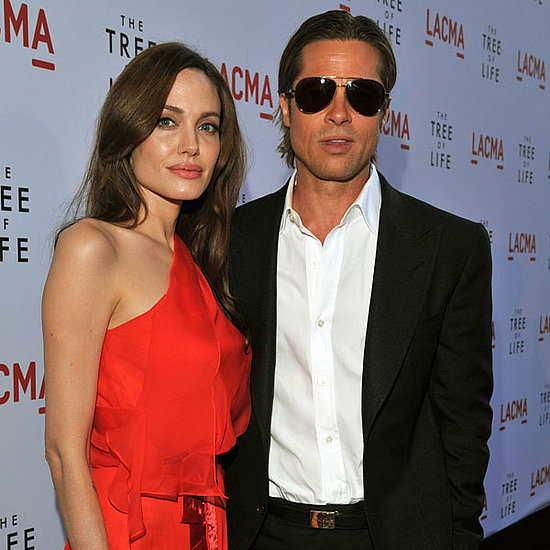 Pictures of Brad Pitt and Angelina Jolie at LA Tree of Life Premiere