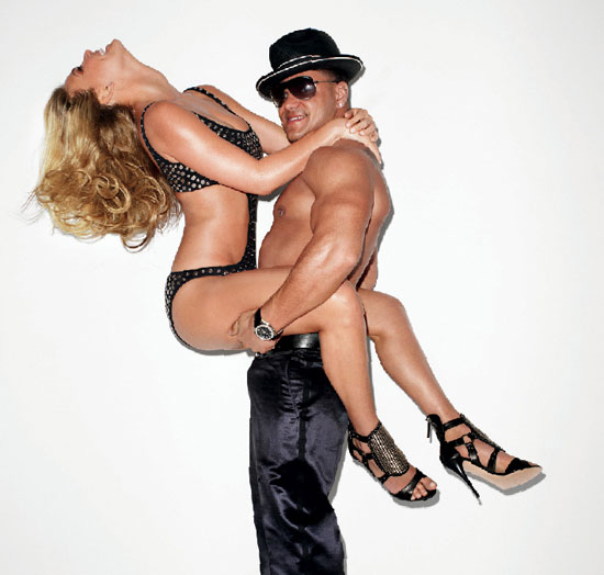 Bar posed in a studded one-piece with Jersey Shore's Ronnie for the April 2010 issue of Interview. Source: Interview Magazine
