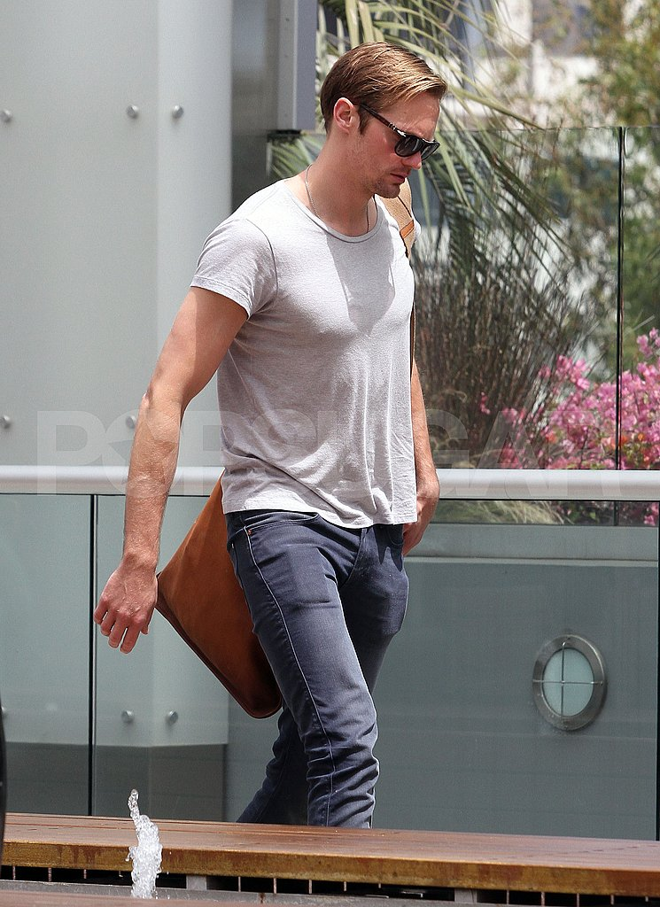 Alexander Skarsgard Shapes Up With a Gym Visit as He Readies For True Blood's Return