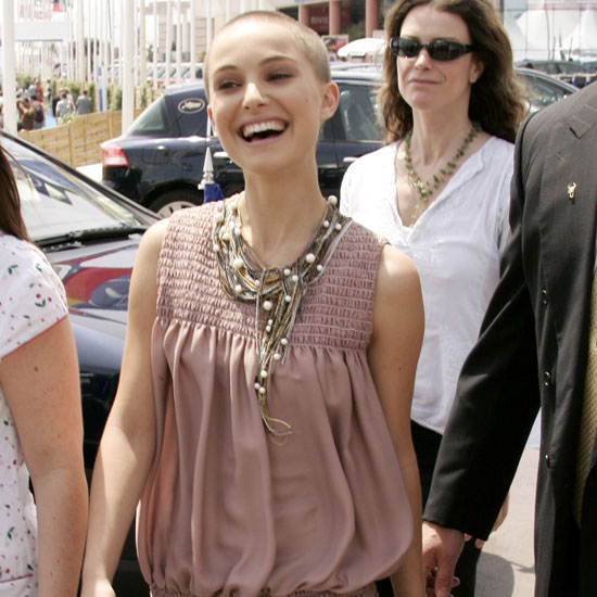 Natalie Portman debuted her dramatic shaved head at the Cannes Film Festival in 2005.