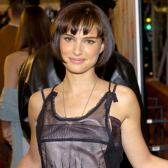 Natalie Portman showed off a shorter haircut at the 2003 premiere of Cold Mountain in LA.