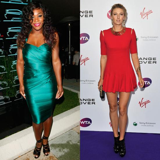 Serena Williams and Maria Sharapova at WTA Pre-Wimbledon Party