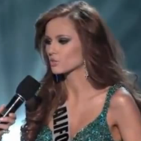 Miss California Answers Question About Medical Marijuana Video