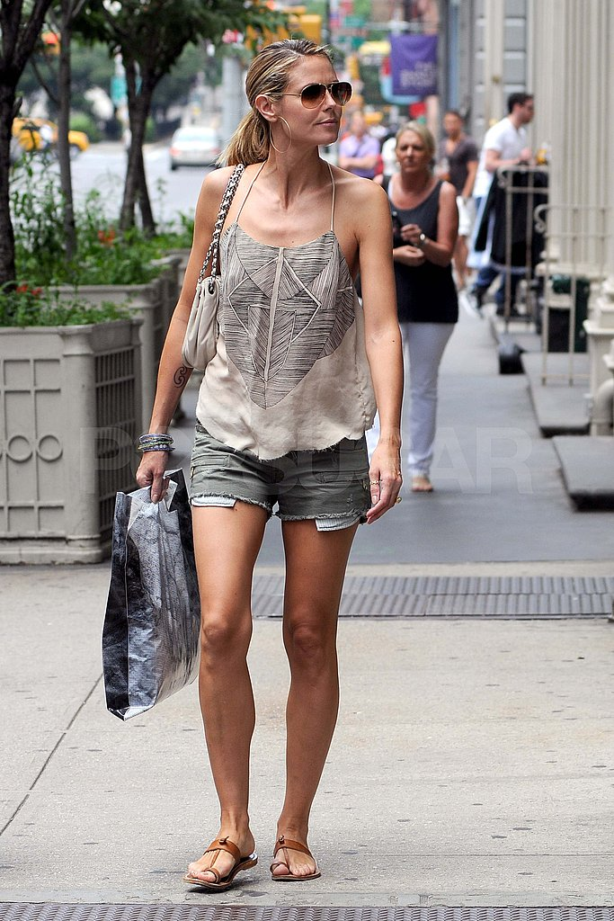 Heidi Klum was spotted walking solo around the city.