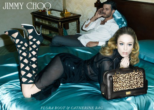 Raquel Zimmermann For Jimmy Choo Ad