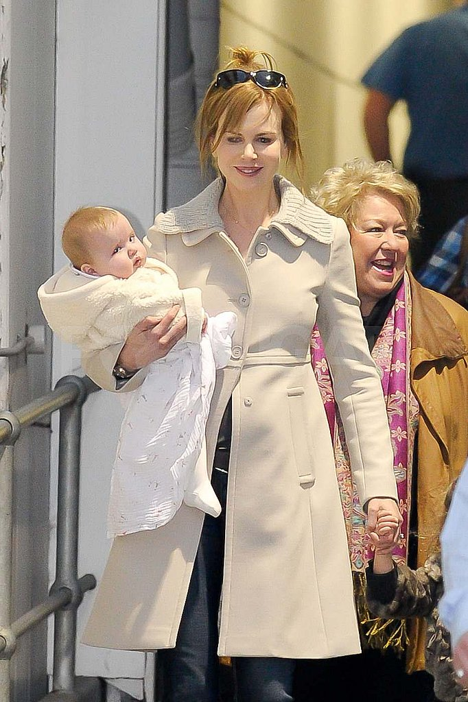 Nicole Kidman carried Faith at the Sydney Airport.