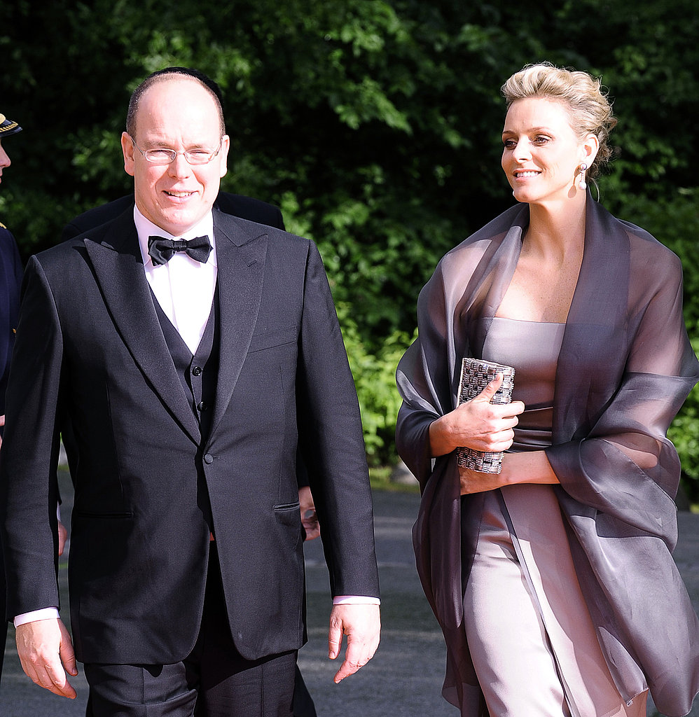 Prince Albert and Princess Charlene attended an event in Sweden prior to the wedding of Sweden's Crown Princess Victoria and Daniel Westling. Source: Getty / Attila Kisbenedek/AFP