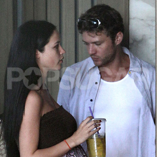 Ryan Phillippe with pregnant ex Alexis Knapp together in LA.