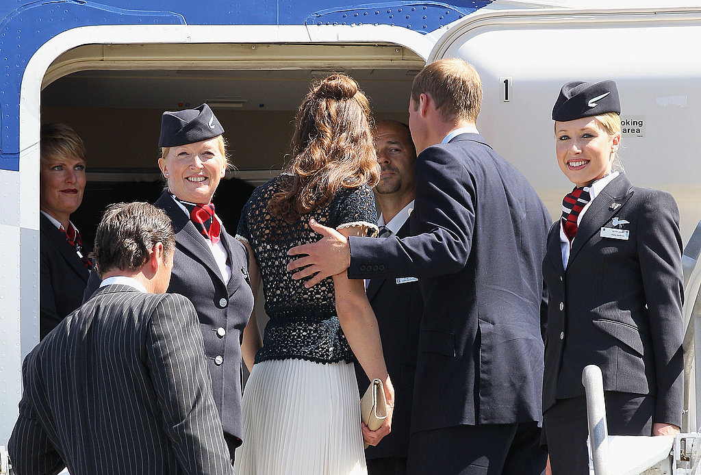 Prince William and Kate Middleton boarding plane to leave LA.