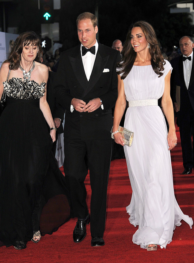 Kate Middleton and Prince William arrive at BAFTA Brits to Watch dinner.