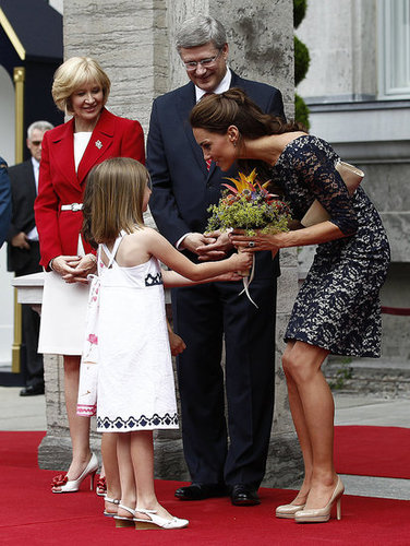 Kate Middleton was showered with flowers in Ottawa.