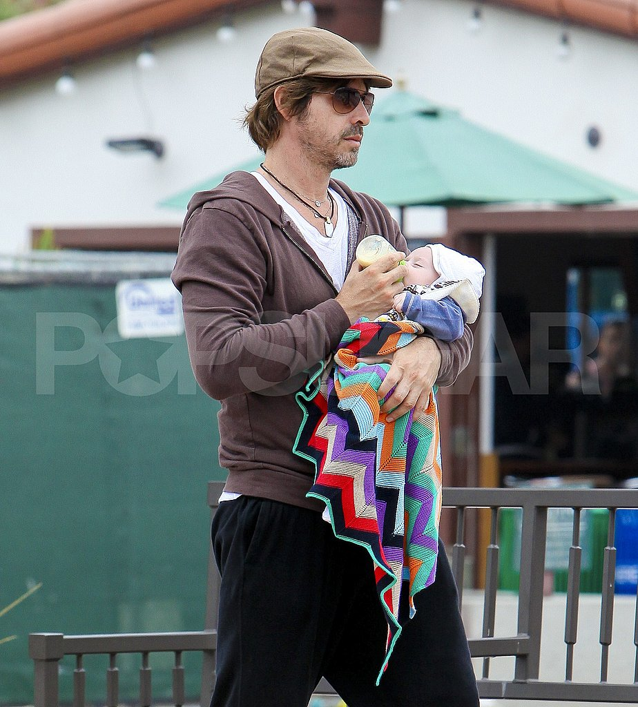 Rodger Berman was on daddy duty in Malibu with Skyler Berman.