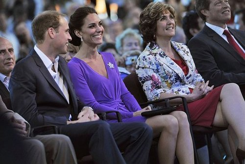 Prince William and Kate Middleton sat close during the Canada Day festivities.