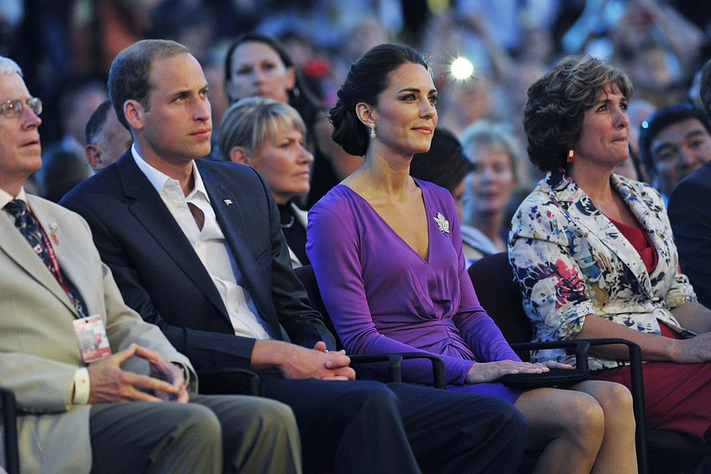 Prince William and Kate Middleton watched intently during the musical performances.