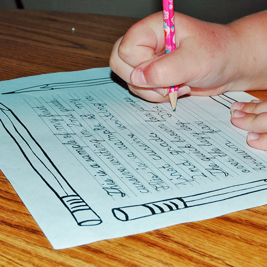 Tools For Teaching Cursive Writing