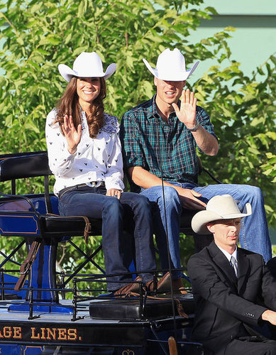 Prince William and Kate Middleton waved to the crowd at the Calgary rodeo.