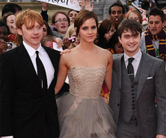 Pictures of Emma Watson, Daniel Radcliffe, Rupert Grint, Tom Felton, Harry Potter Cast at Deathly Hallows Premiere