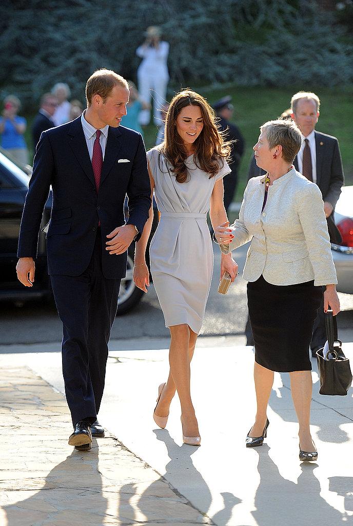 Prince William and Kate Middleton arrive in Hancock Park in LA.