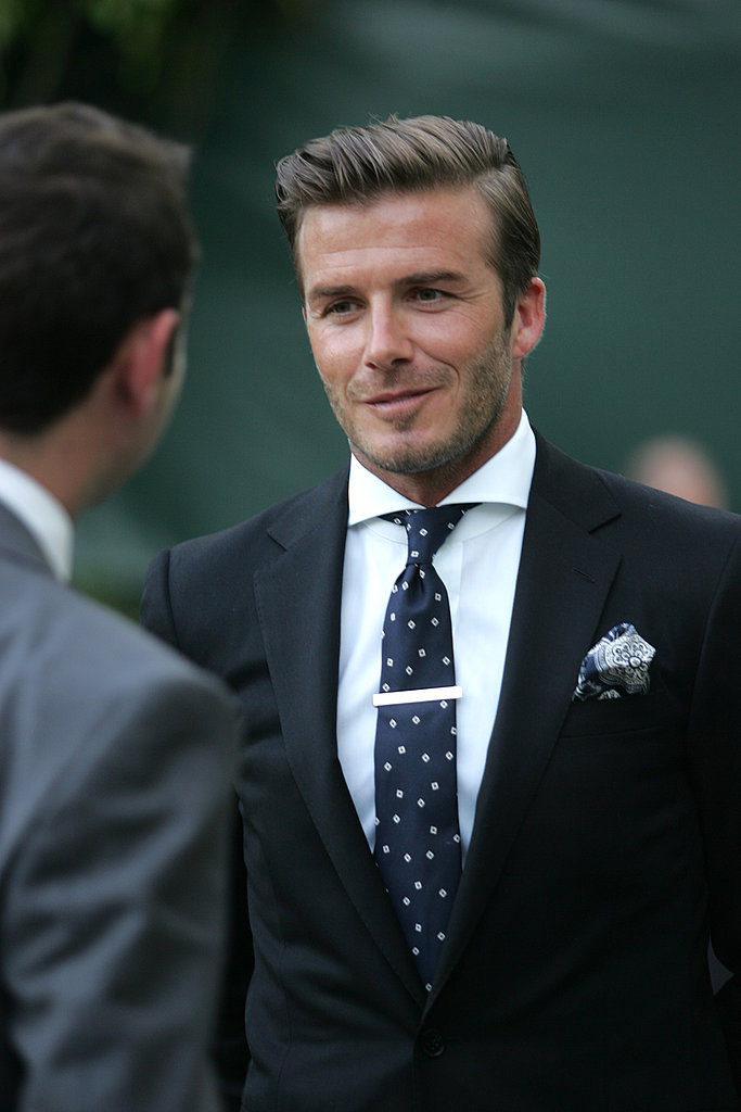 David Beckham at reception for Kate Middleton and Prince William.