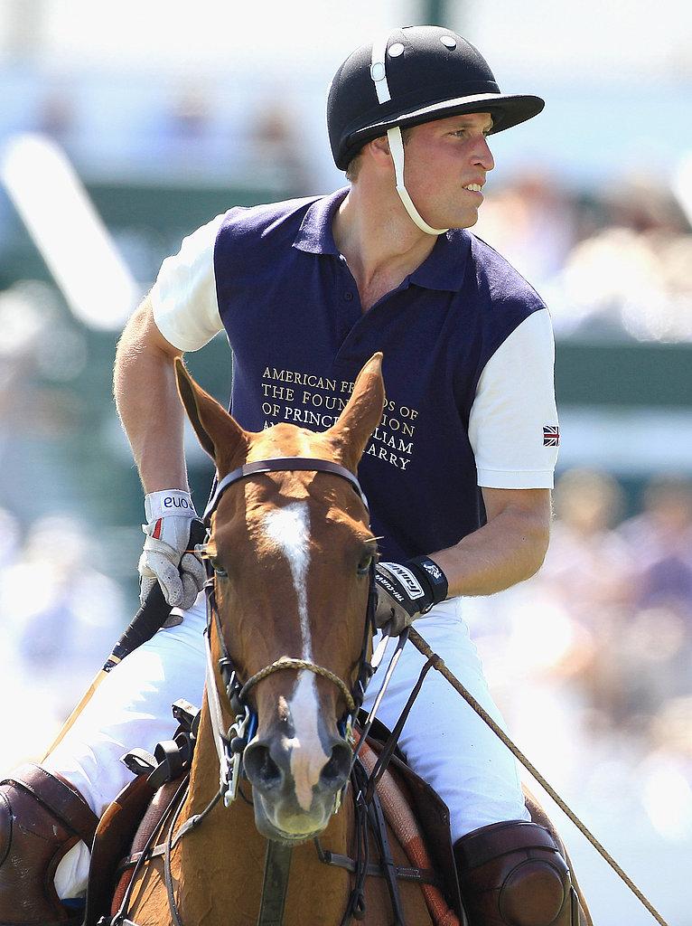 Prince William plays polo in Santa Barbara.
